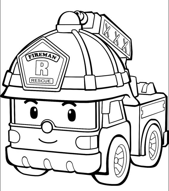 Fire Truck Coloring Pages – Coloring.rocks!