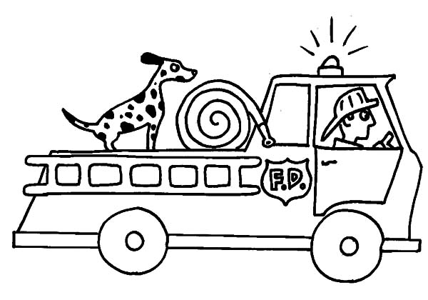 Firetruck Coloring Pages