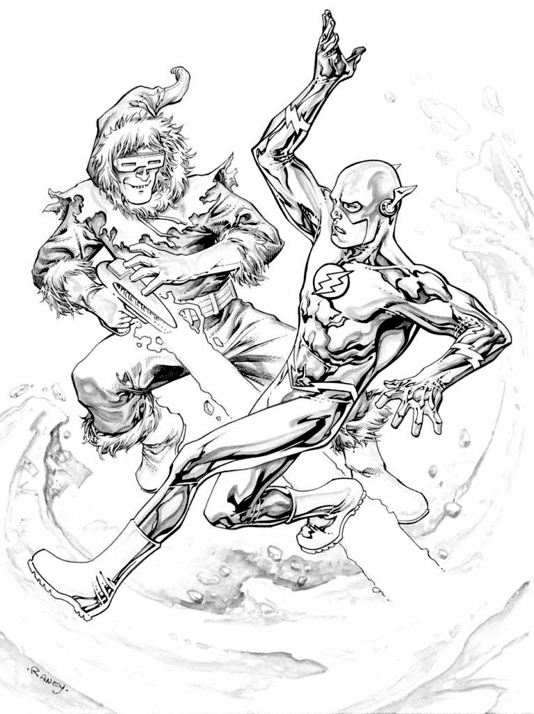 Flash V Captain Cold Coloring Page