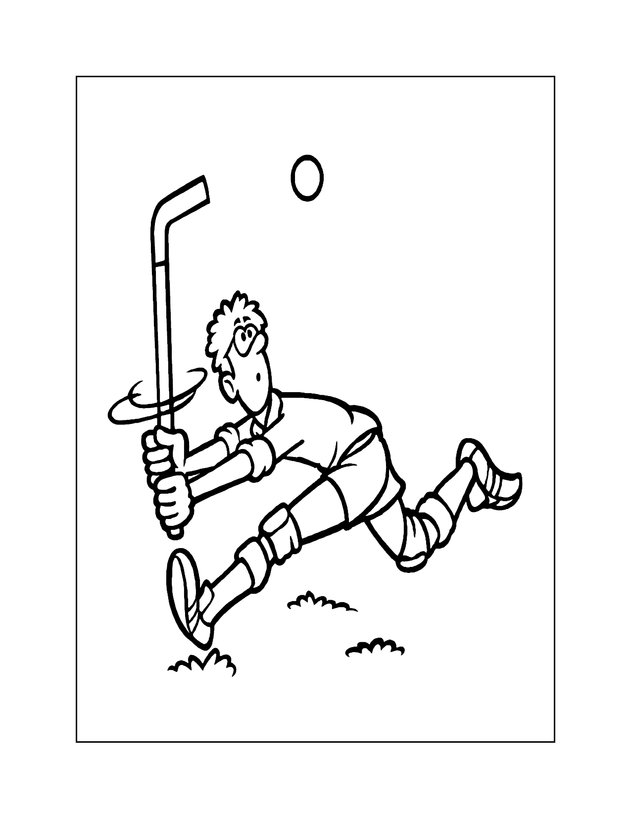 Floor Hockey Coloring Pages