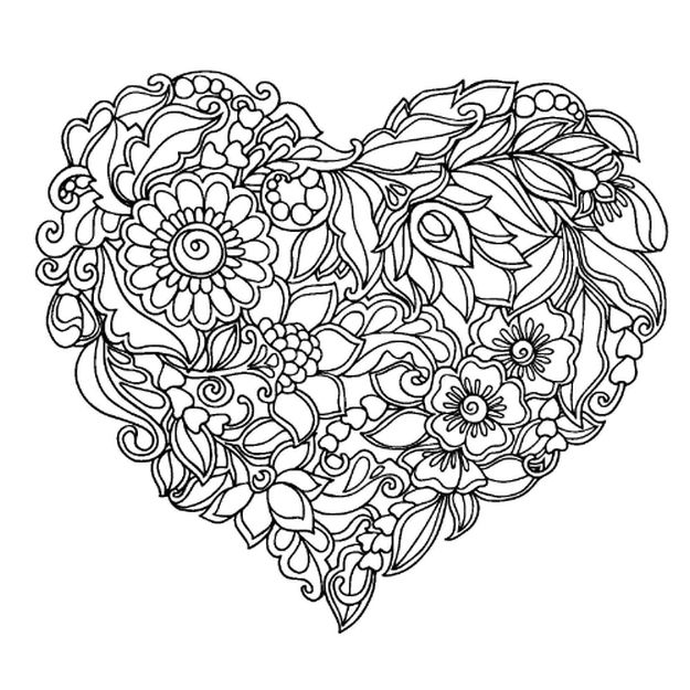 Heart Coloring Pages – Coloring.rocks!