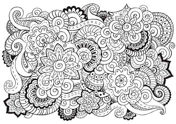 Flower Art Coloring Page