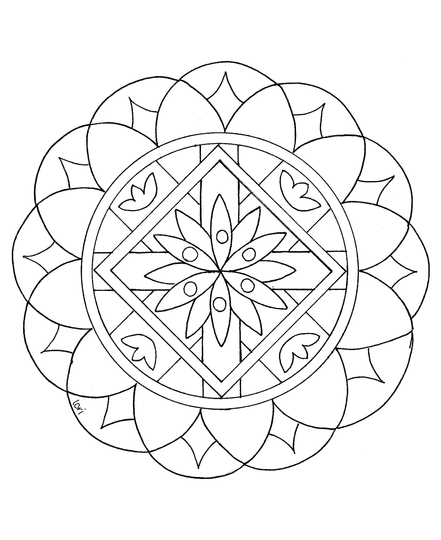 Mandalas For Kids Coloring Rocks