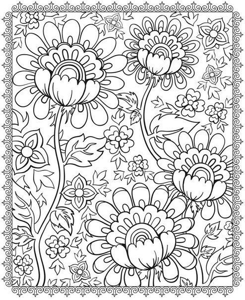 Flower Coloring Pages Free