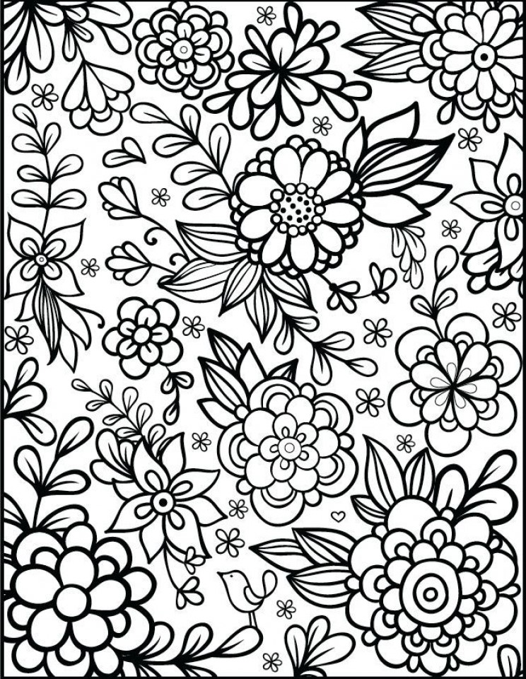 picture relating to Flower Coloring Pages for Adults Printable called Flower Coloring Internet pages for Grownups coloring.rocks!