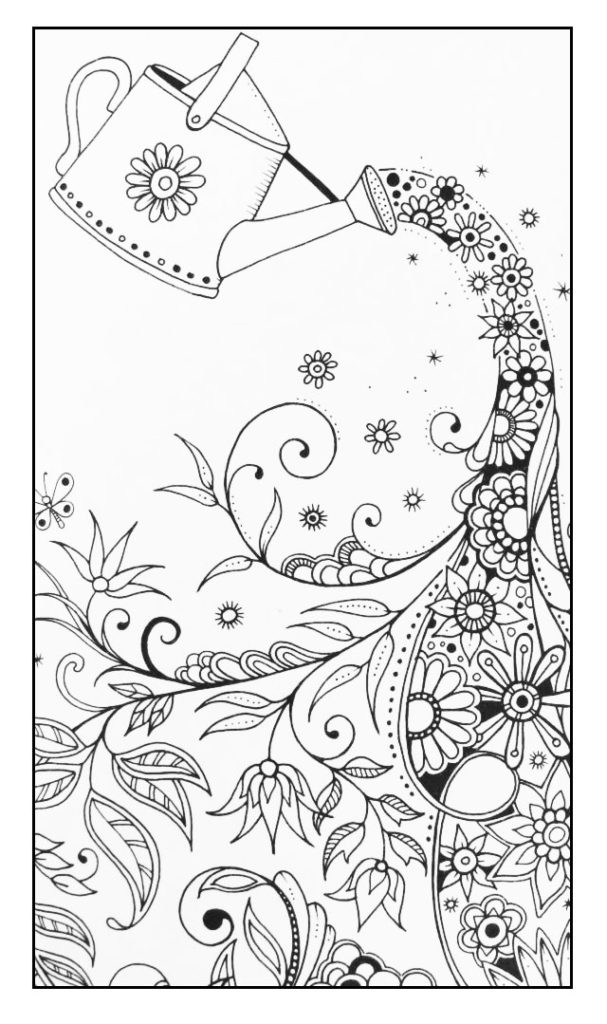 Flower Coloring Pages for Teenagers