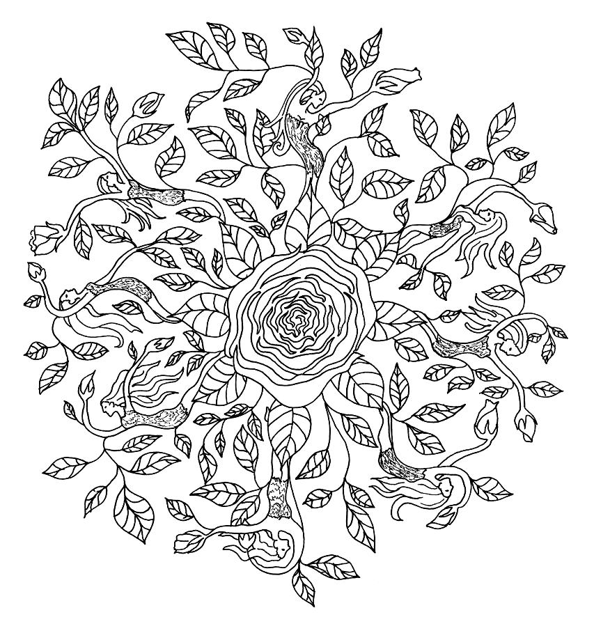 Flower Fairies Mandala Coloring Pages