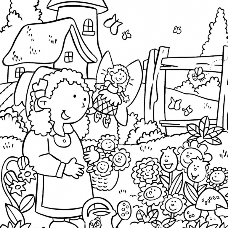 Garden Critters Coloring Page | crayola.com | 770x770