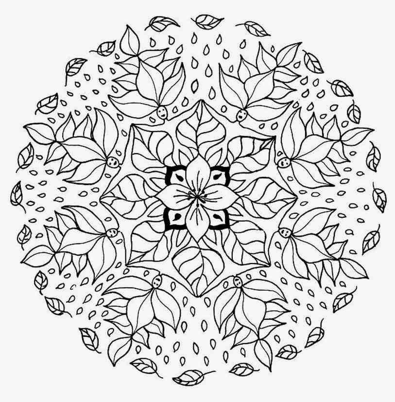 Flower Mandala Coloring Pages – Coloring.rocks!