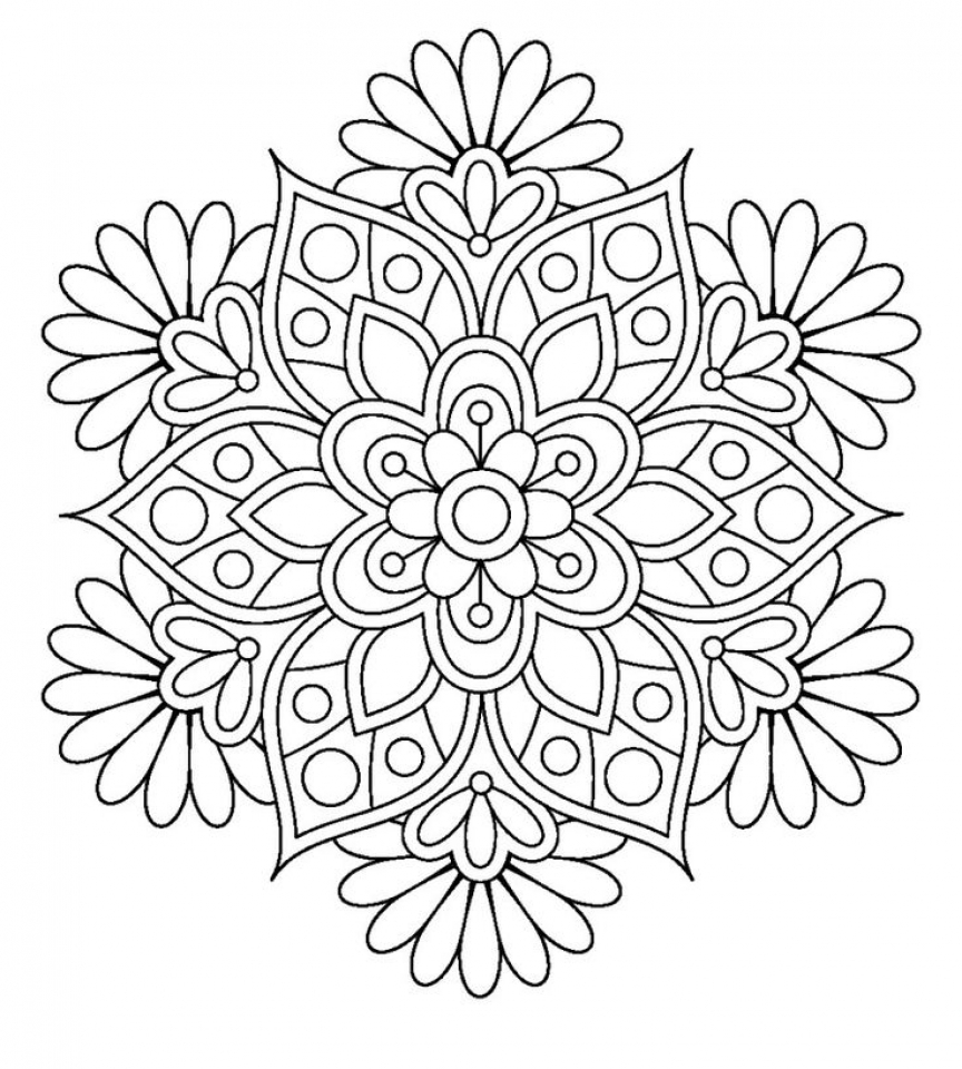 - Flower Mandala Coloring Pages – Coloring.rocks!