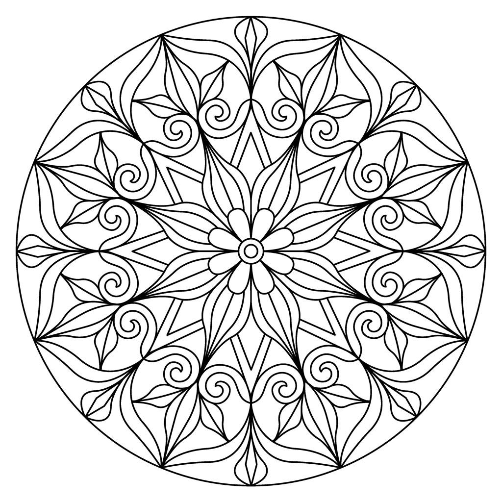 Flower Mandala Pattern Coloring Page