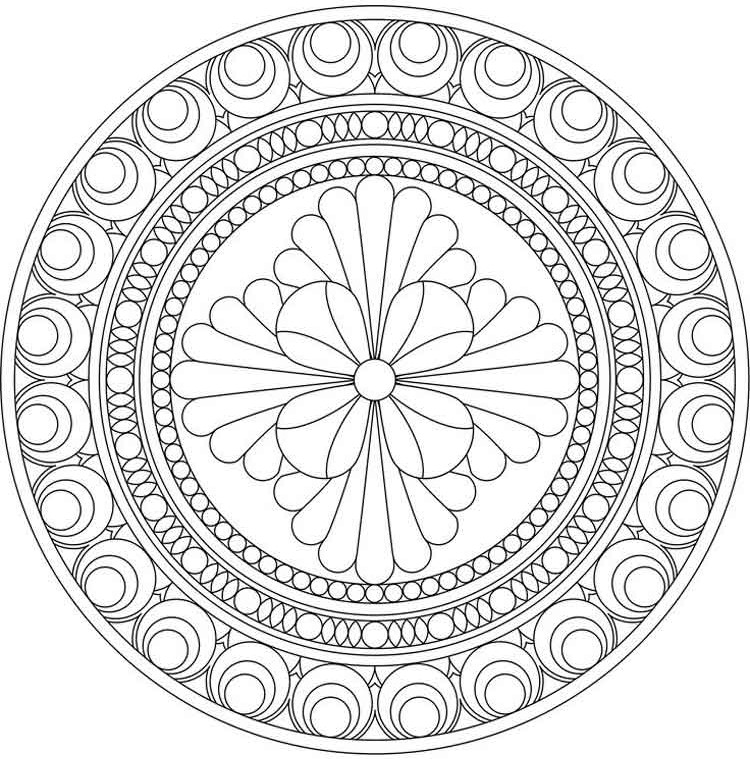 Flower Mandala to Print and Color