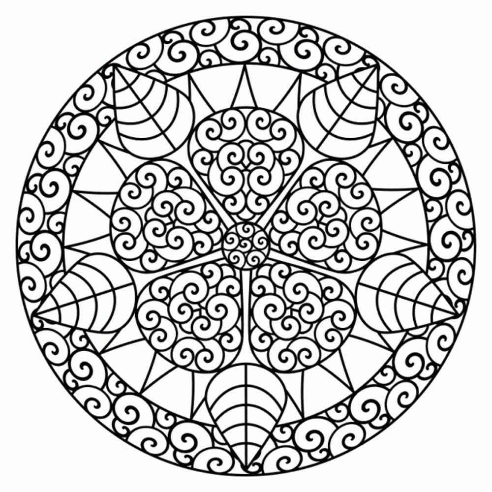 Flower Pattern Mandala Coloring Page