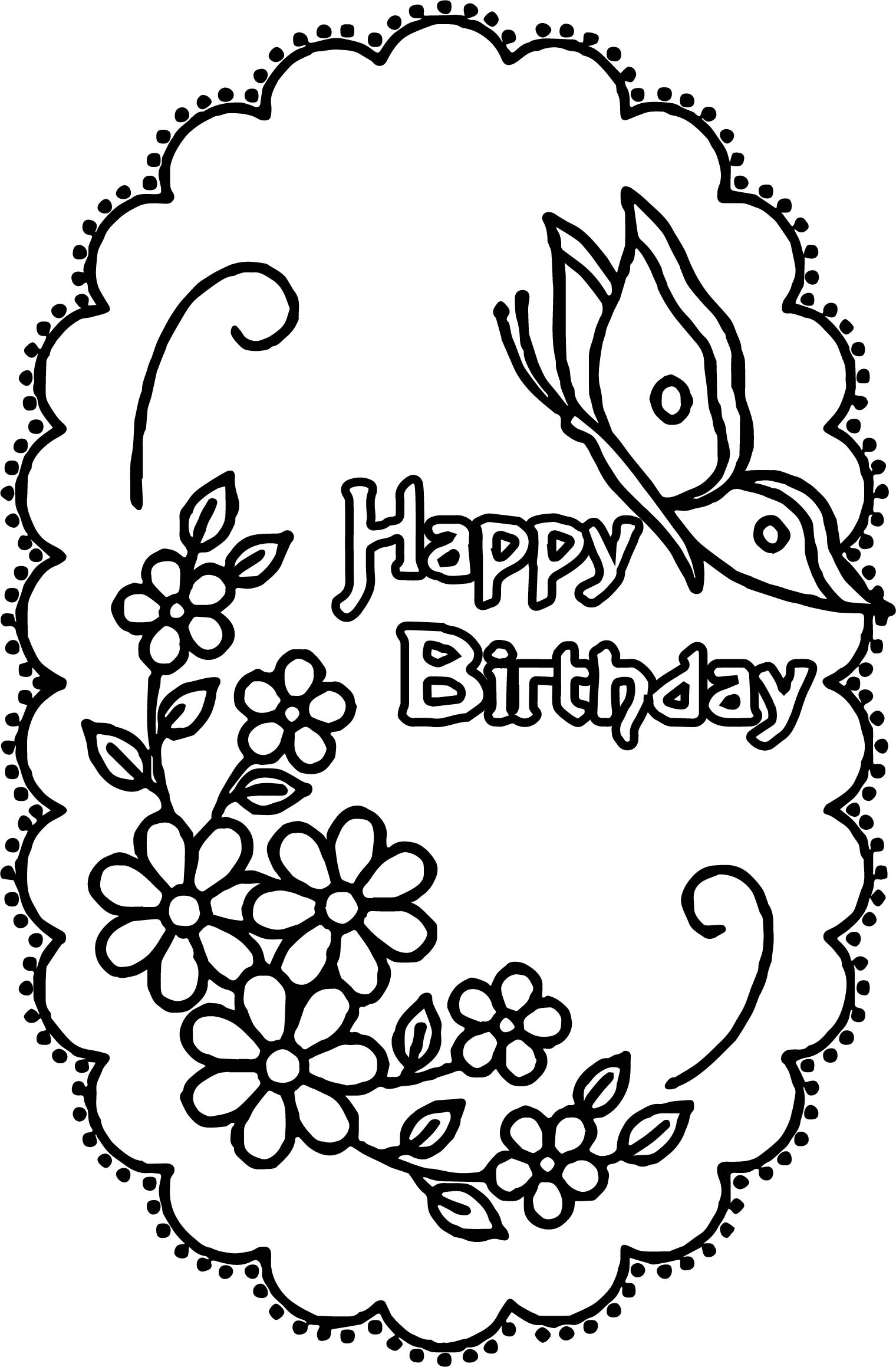 - Happy Birthday Coloring Pages – Coloring.rocks!