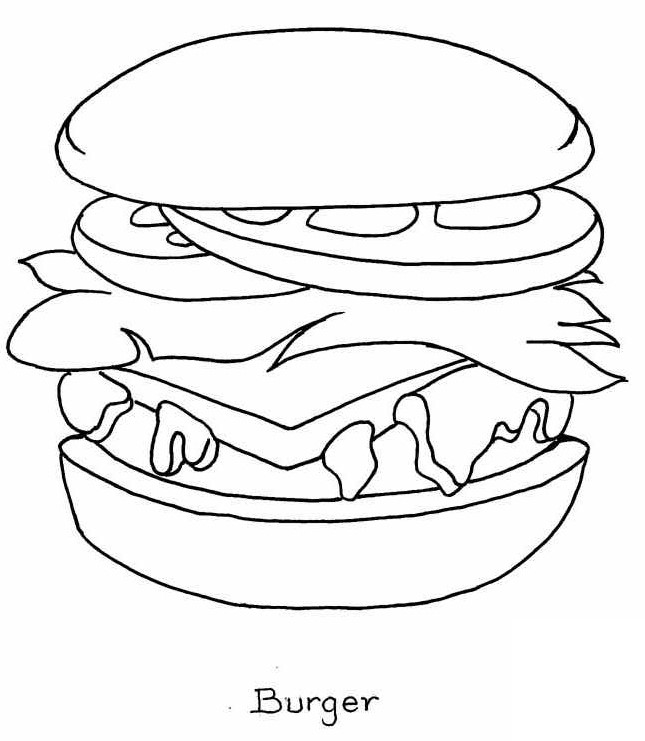 - Food Coloring Pages – Coloring.rocks!