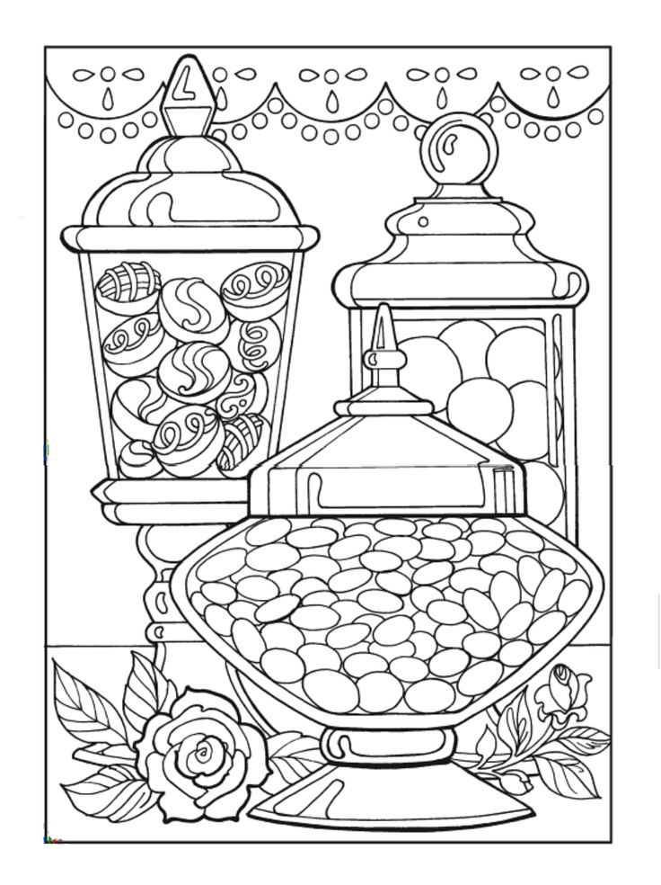 Food Coloring Pages Candy