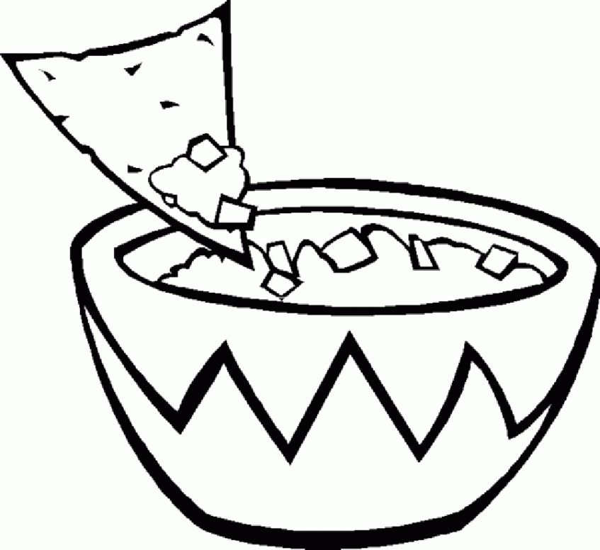 Food Coloring Pages Chips