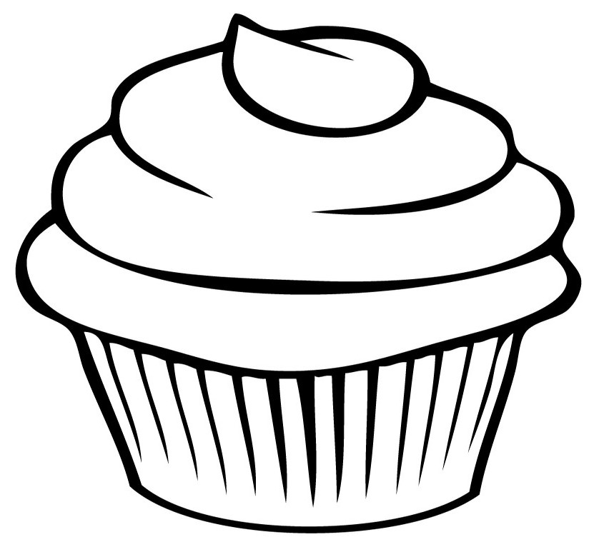 Food Coloring Pages Cupcake