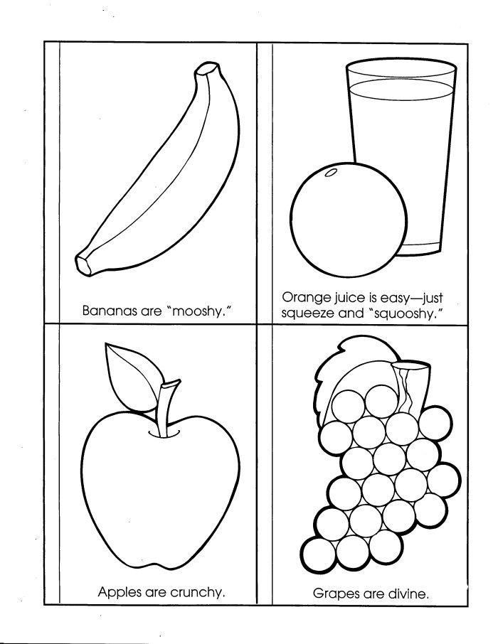 Food Texture Coloring Worksheet