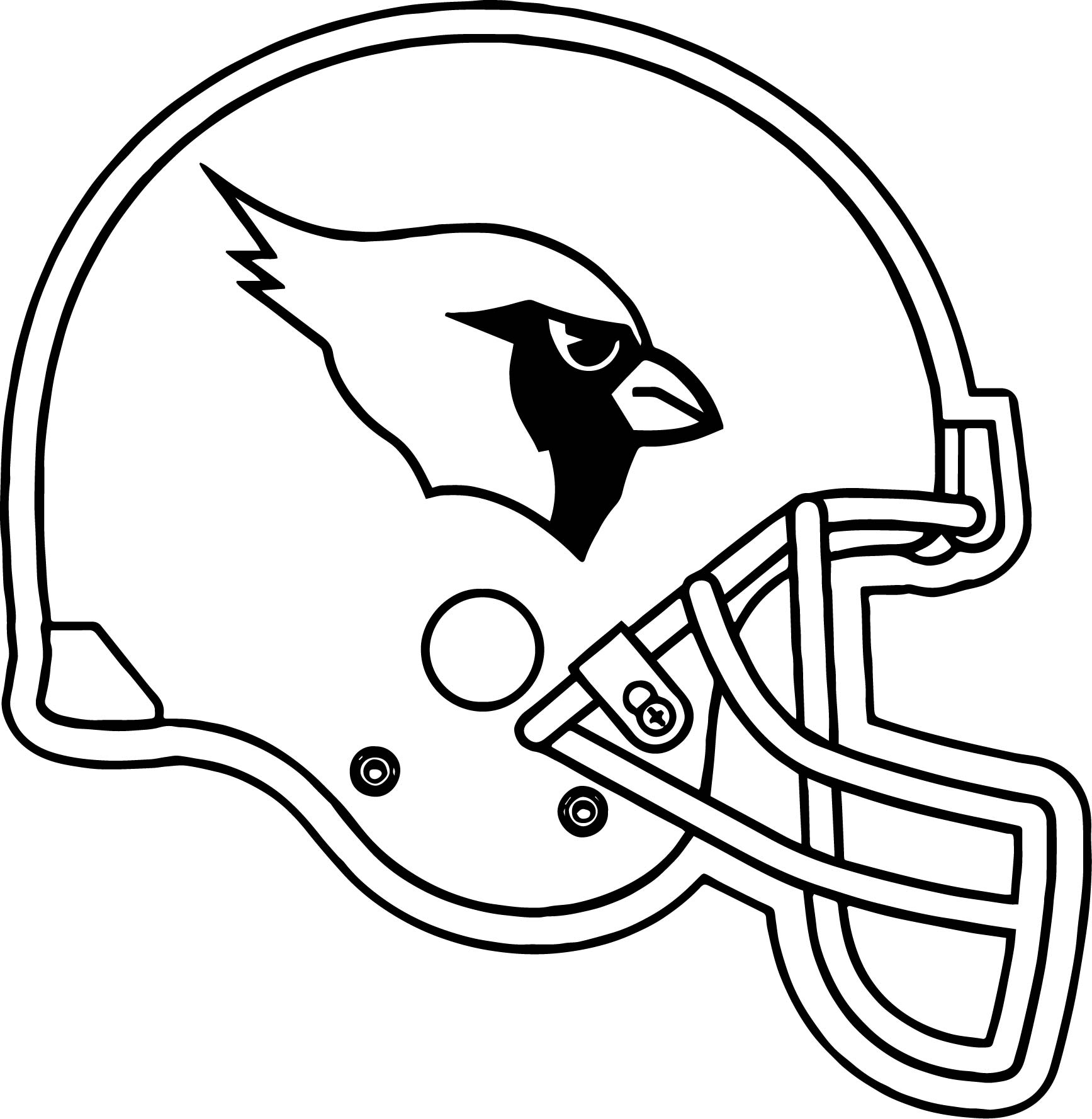 Football Helmet Coloring Pages - Arizona Cardinals