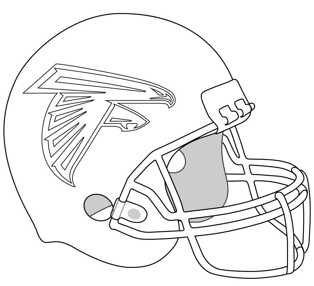 Football Helmet Coloring Pages - Atlanta Falcons