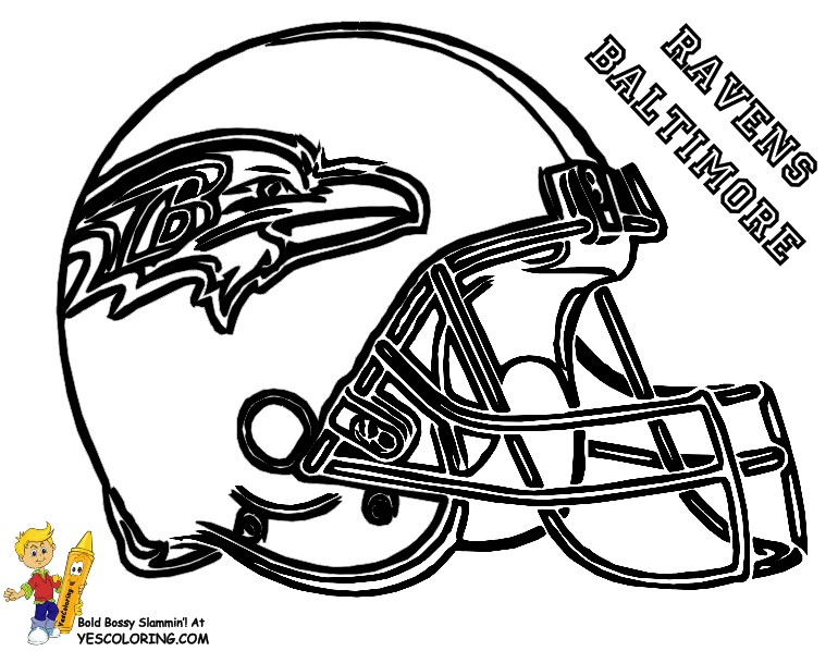 Pro Football Helmet Coloring Page | NFL Football | Free Coloring | 598x770