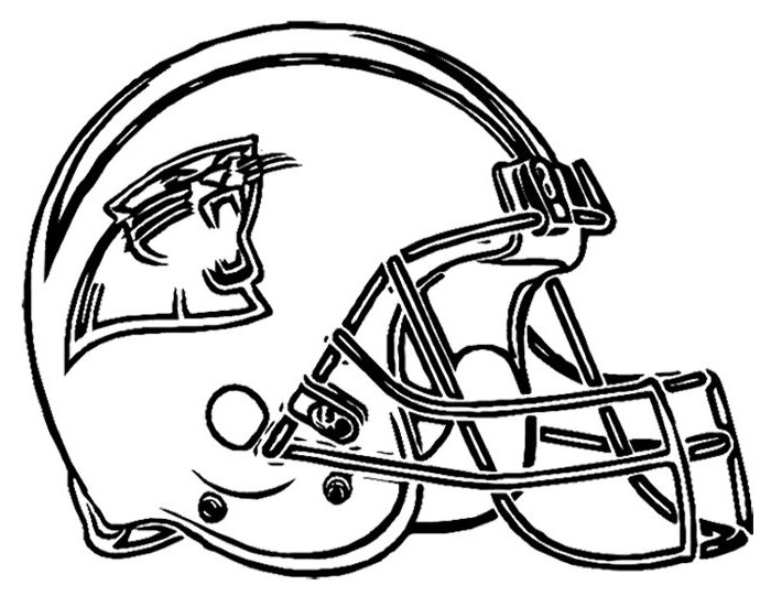 Football Helmet Coloring Pages - Carolina Panthers