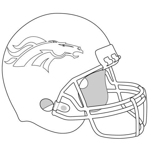 Football Helmet Coloring Pages - Denver Broncos