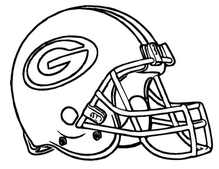 Football Helmet Coloring Pages - Green Bay Packers