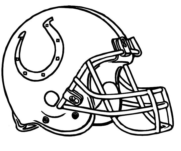 Football Helmet Coloring Pages - Indianapolis Colts