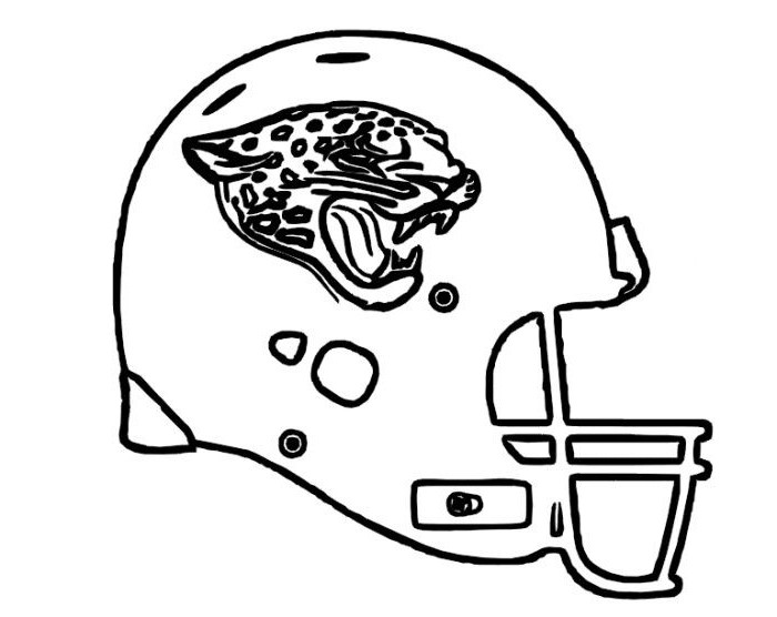 Football Helmet Coloring Pages - Jacksonville Jaguars