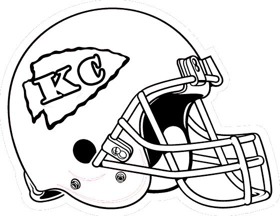Football Helmet Coloring Pages - Kansas City Chiefs