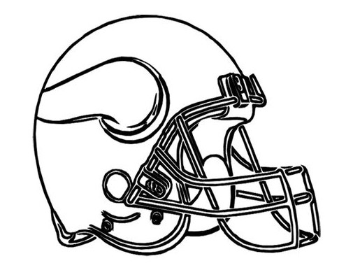 Football Helmet Coloring Pages - Minnesota Vikings