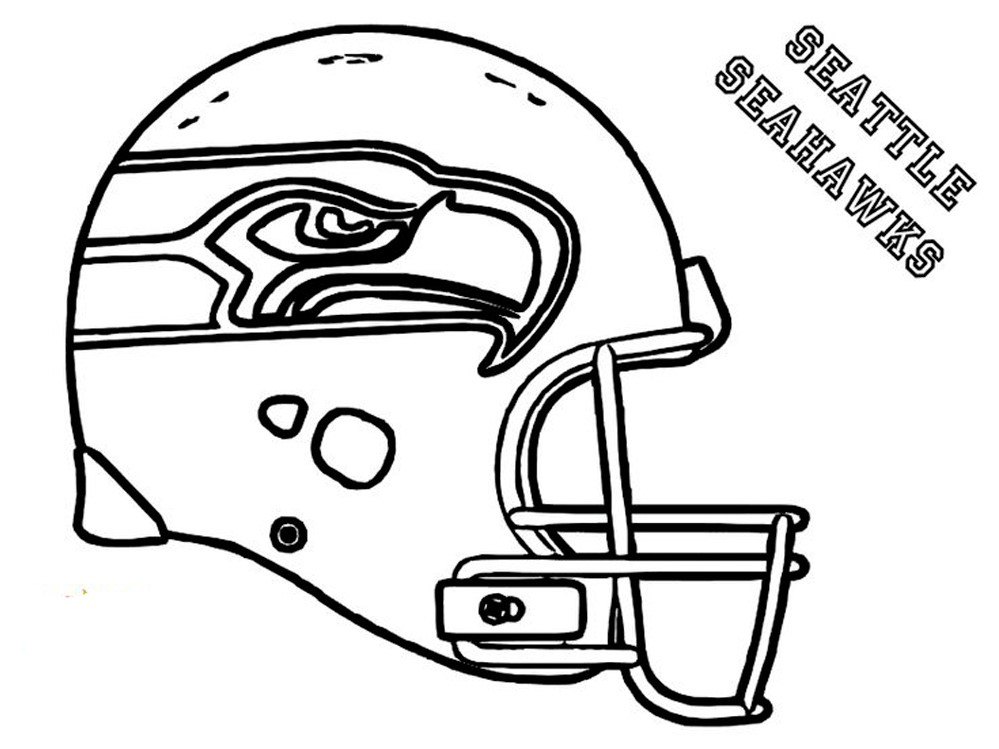 Football Helmet Coloring Pages - Seattle Seahawks