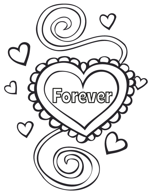 Forever Heart Coloring Page for Wedding