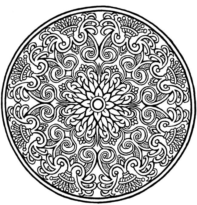 Formal Floral Mandala Coloring Pages