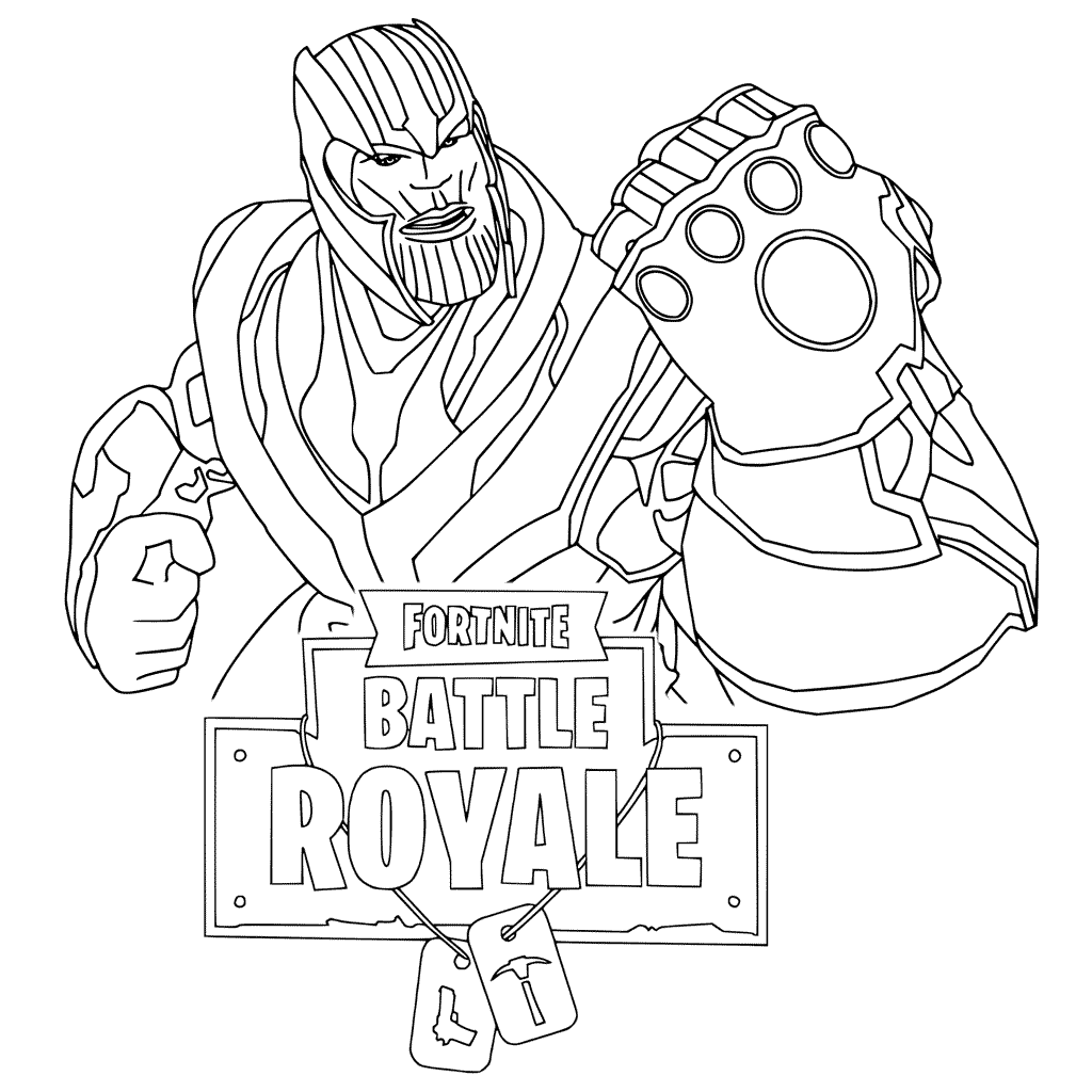 Fortnite Battle Royale Printable Coloring Pages