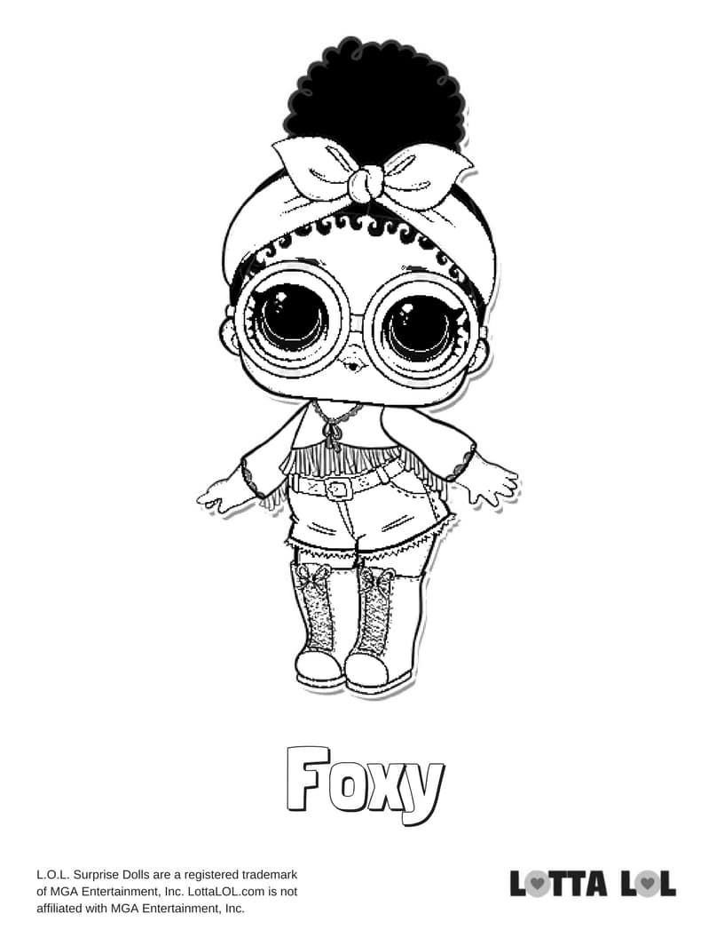 Foxy LOL Doll Coloring Pages