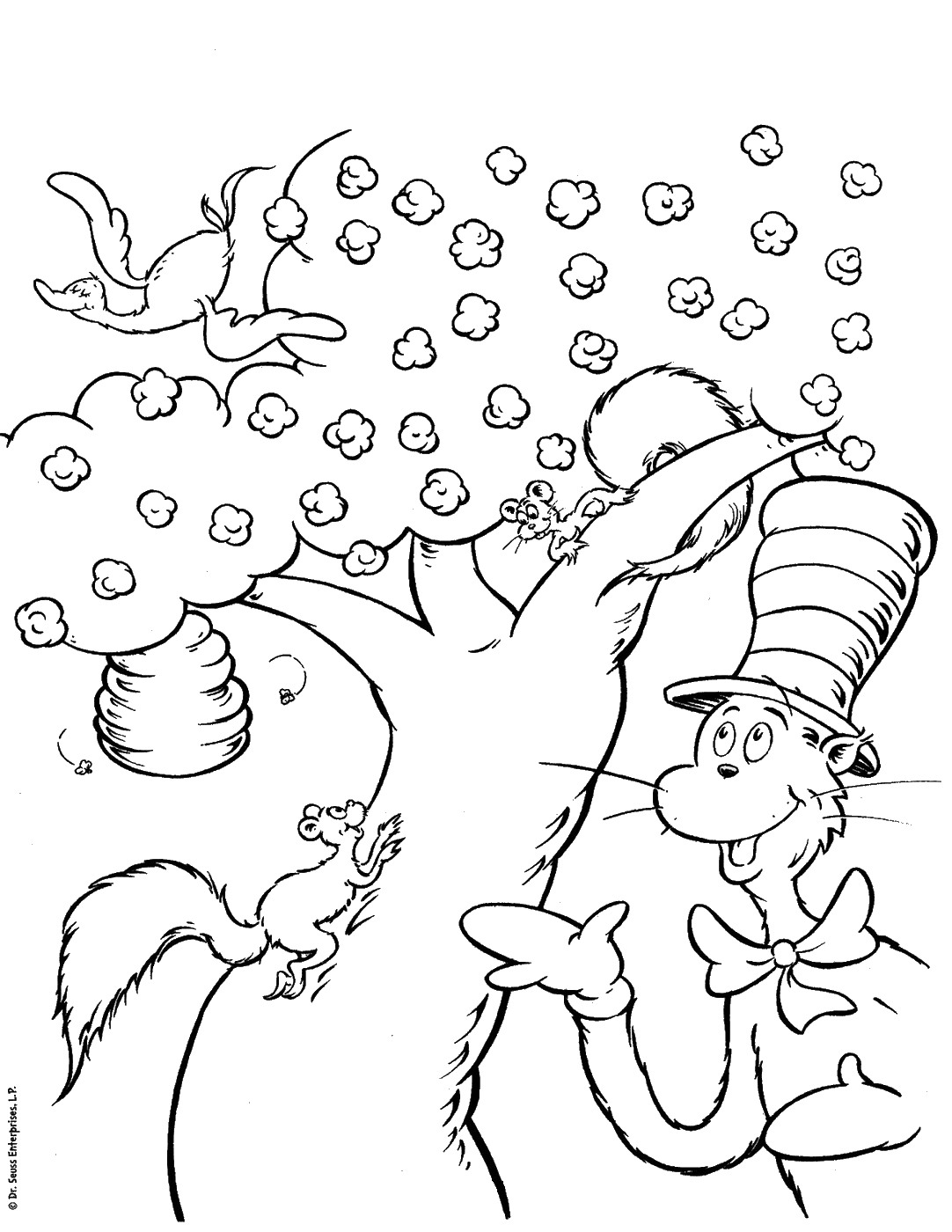 picture regarding Cat in the Hat Hat Printable named Cat inside the Hat Coloring Internet pages coloring.rocks!