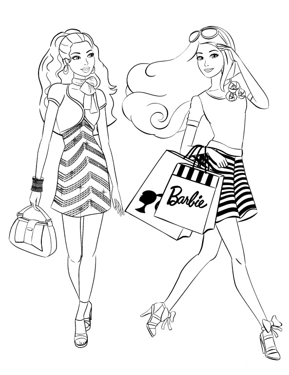 Free Fashion Barbie Coloring Pages