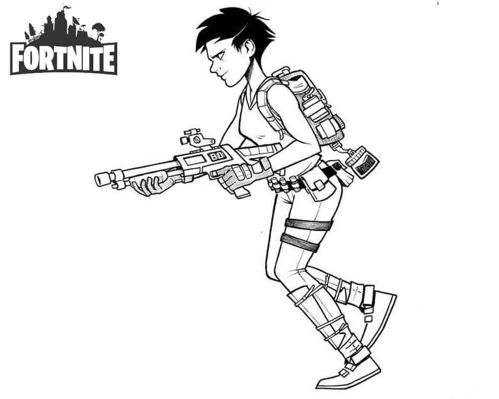 Free Fortnite Coloring Pages