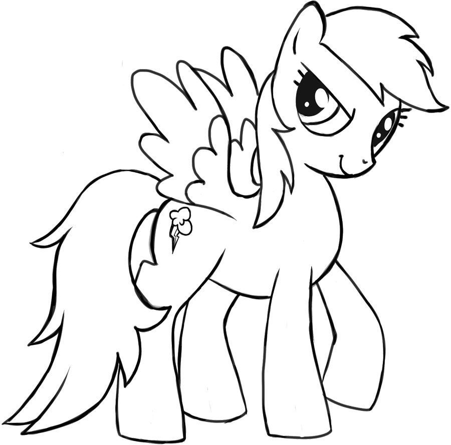Free MLP Rainbow Dash Coloring Pages