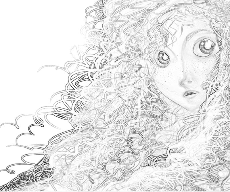 Free Merida Coloring Page