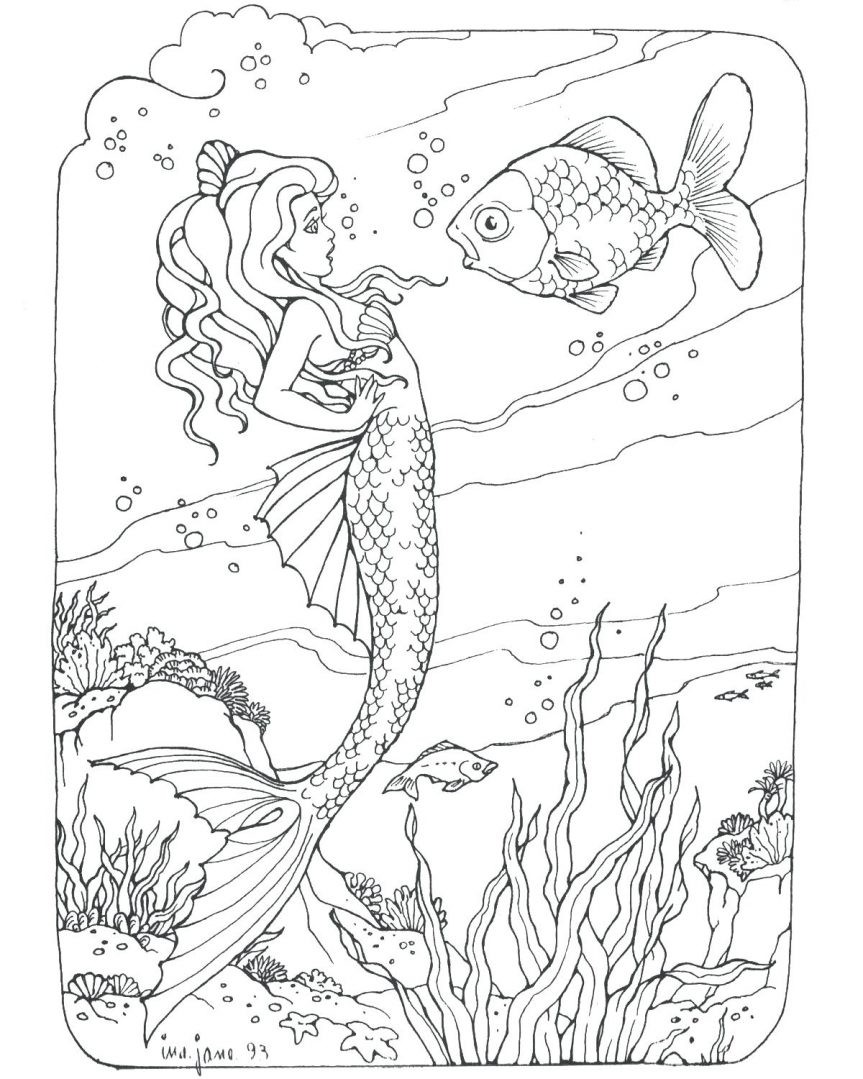 Mermaid Coloring Pages Coloring Rocks