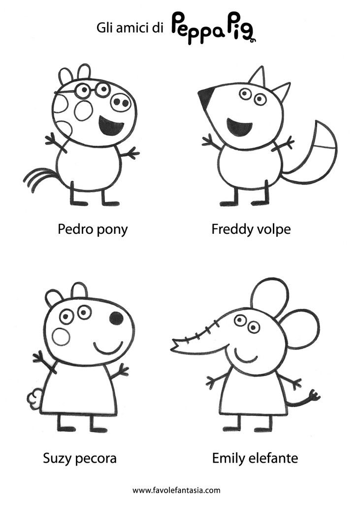Free Peppa Pig Characters Coloring Pages