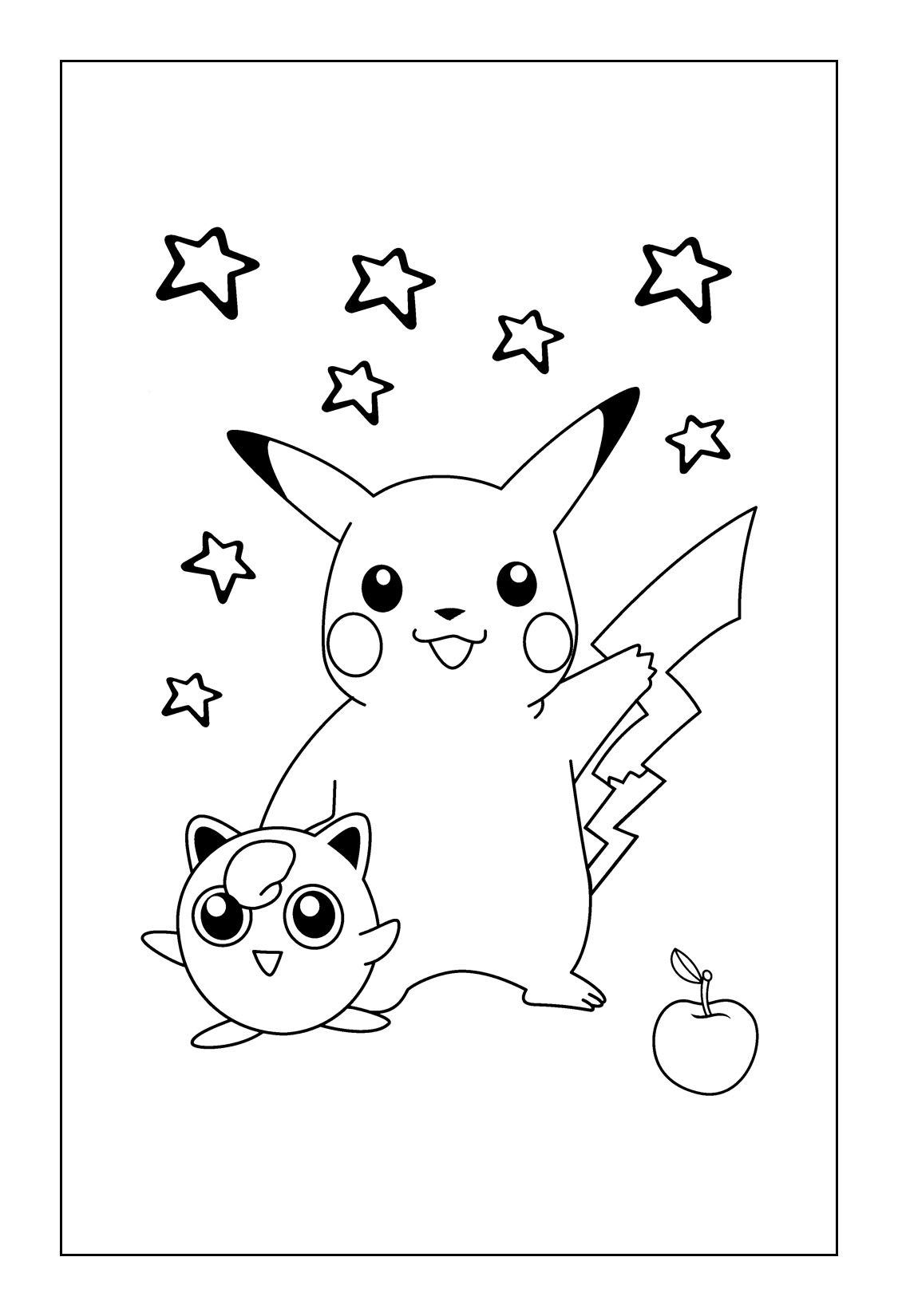 Free Pikachu Coloring Pages Printable