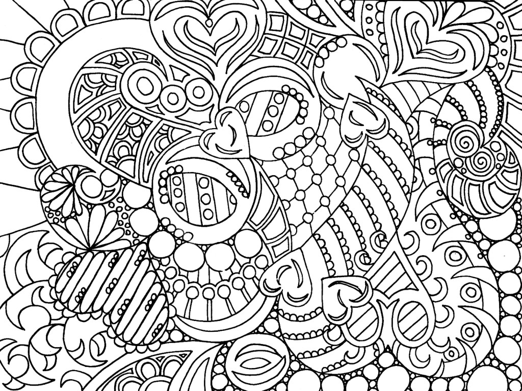 Free Printable Heart Coloring Pages for Adults