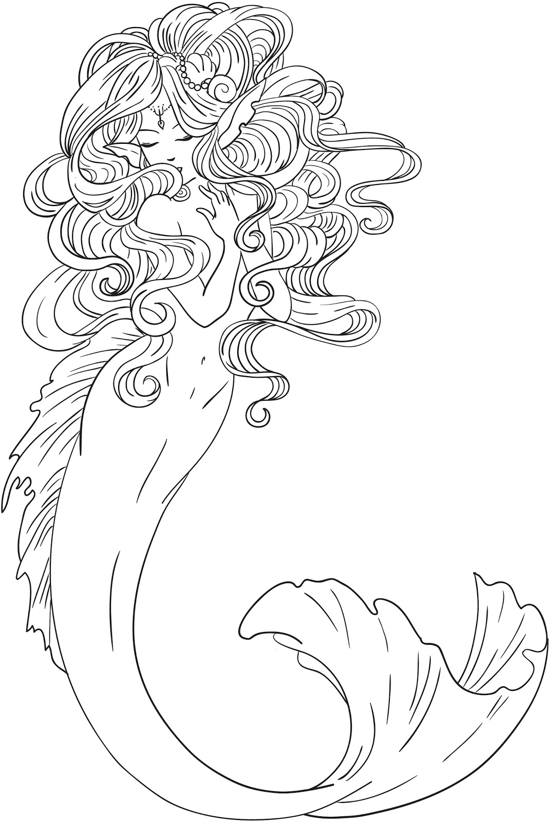 Mermaid Coloring Pages Coloring Rocks