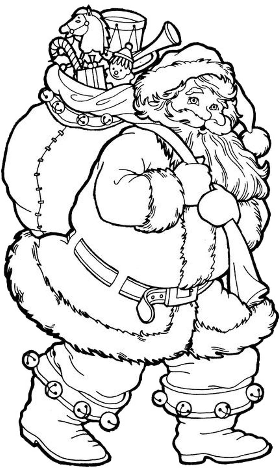 Santa Coloring Pages Coloring Rocks