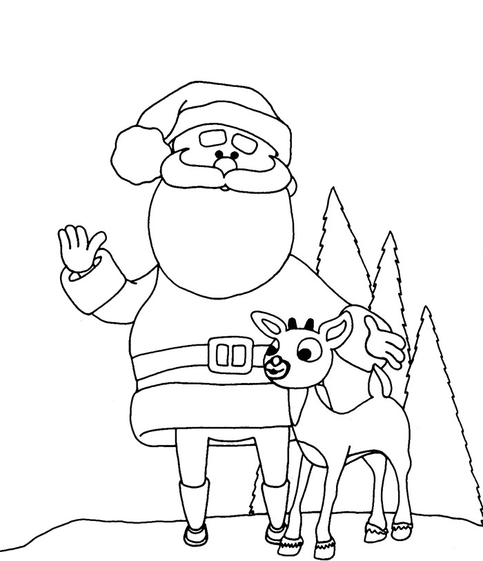 free santa coloring pages